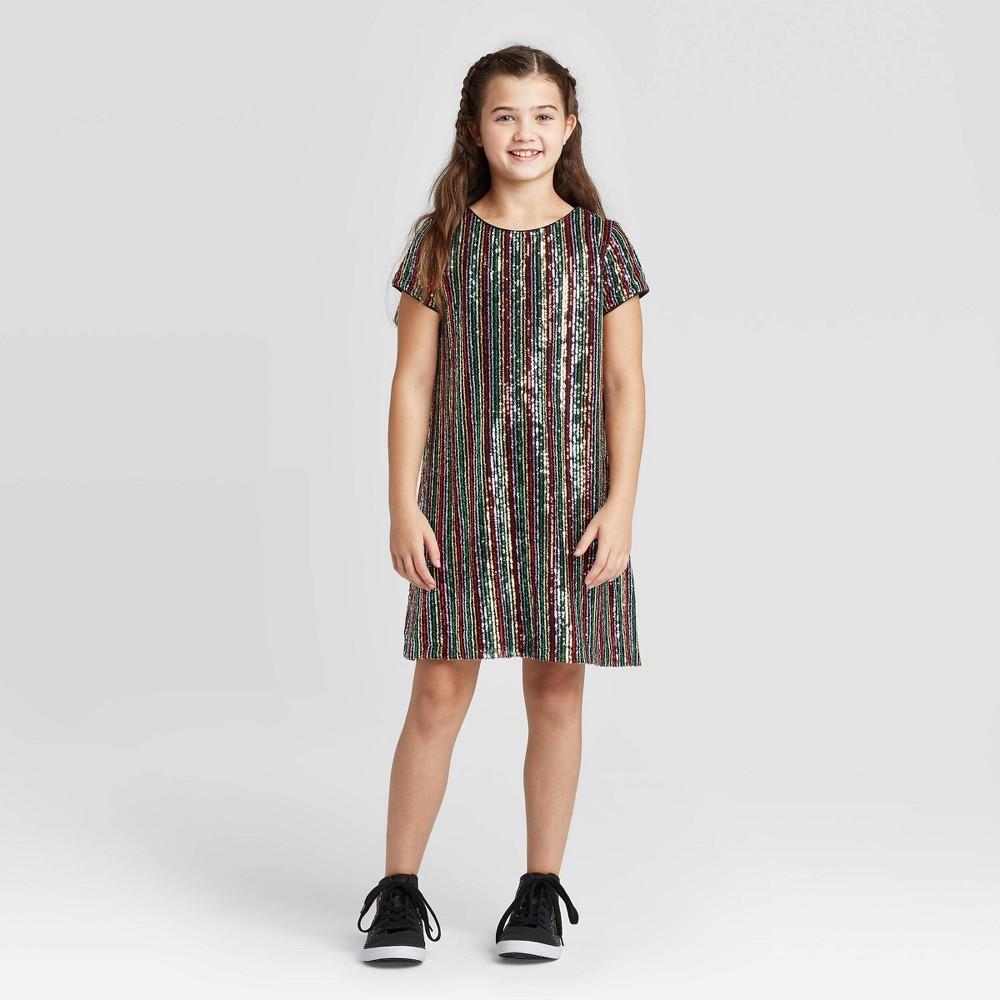 1920s Children Fashions: Girls, Boys, Baby Costumes Girls39 Short Sleeve Sequin Dress - art class8482 $24.29 AT vintagedancer.com