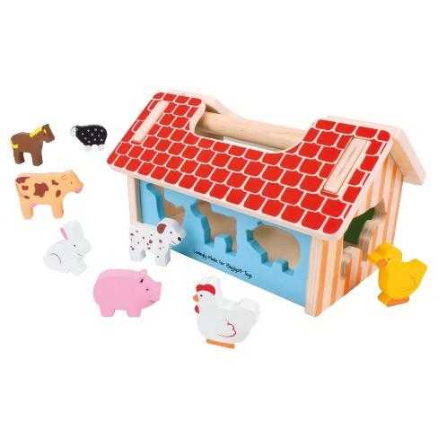 Bigjigs Toys Farmhouse Sorter Wooden Developmental Toy - image 1 of 2