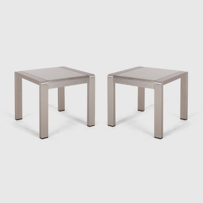 Cape Coral 2pk Aluminum Patio Side Table - Christopher Knight Home