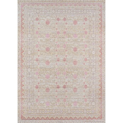 """5'3""""x7'3"""" Isabella Hermione Area Rug Pink - Momeni"""