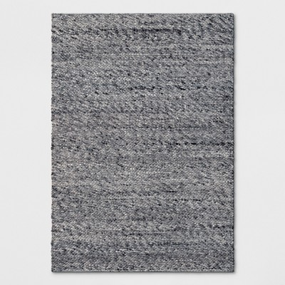 Chunky Knit Wool Woven Rug 5'X7' Charcoal Heather - Project 62™