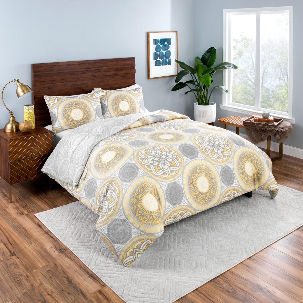 Gray Gween Reversible Comforter Set (Twin XL) 2pc - Vue, Gray Yellow