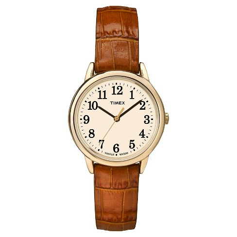 Women's Timex Easy Reader® Watch with Leather Strap - Gold/Brown TW2P68800JT - image 1 of 1
