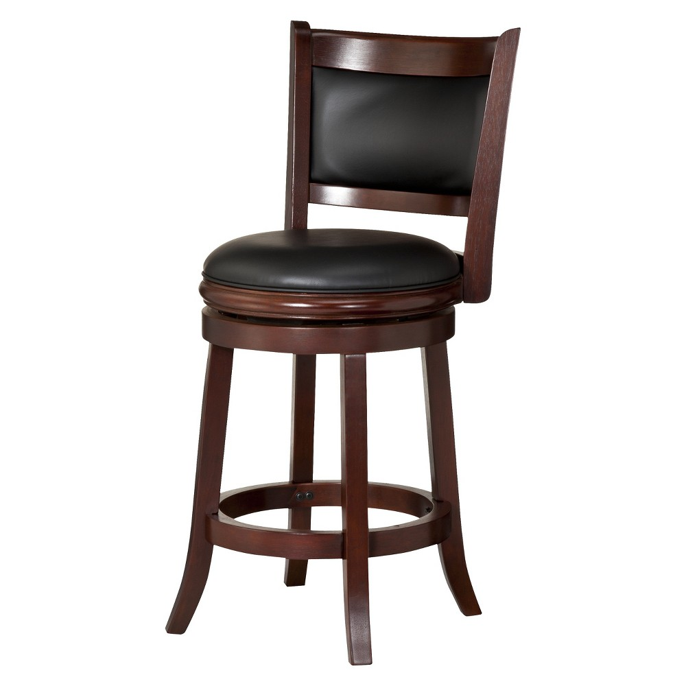 "Image of ""24"""" Augusta Swivel Counter Stool Hardwood Light Cherry - Boraam"""