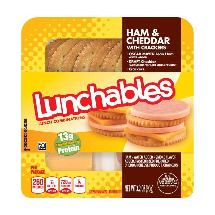 Oscar Mayer Lunchables Ham & Cheddar with Crackers - 3.2oz - image 1 of 1