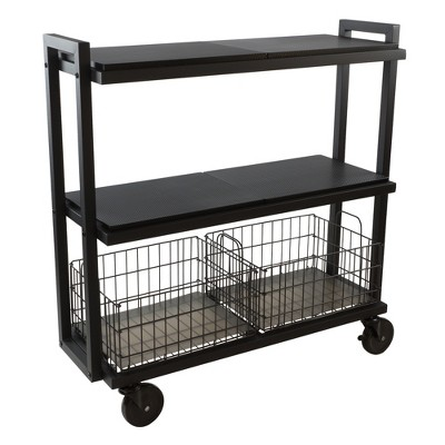 Cart System with wheels 3 Tier Black - Atlantic