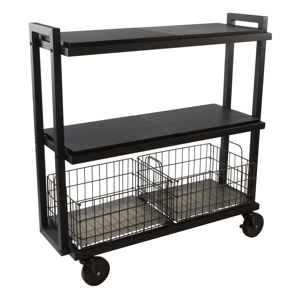 Image of Cart System with wheels 3 Tier Black - Urb Space