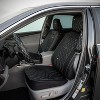 LUNNA 5pc Diamond Black Seat Cover Combo Kit Embellished with Swarovski Crystals - image 4 of 4