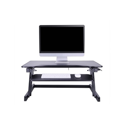 Basic Height Adjustable Sit to Stand Desk Computer Riser - Rocelco