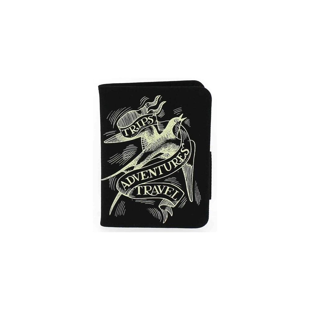Emma Bridgewater Black Scroll Passport Holder (Accessory)