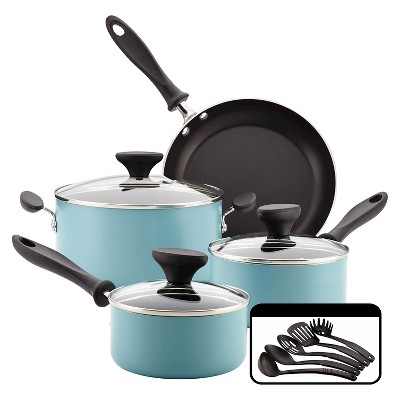Farberware Reliance 12pc Aluminum Nonstick Cookware Set Aqua