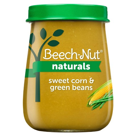 Beech-Nut Naturals Sweet Corn & Green Beans Baby Food Jar - 4oz - image 1 of 3