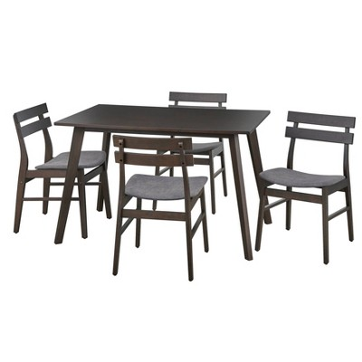 5pc Fiesta Dining Table Walnut - Buylateral