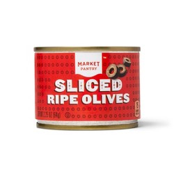Sliced Ripe Black Olives - 2.25oz - Market Pantry™