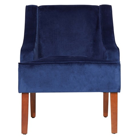 Swell Homepop Swoop Arm Accent Chair Ink Navy Evergreenethics Interior Chair Design Evergreenethicsorg