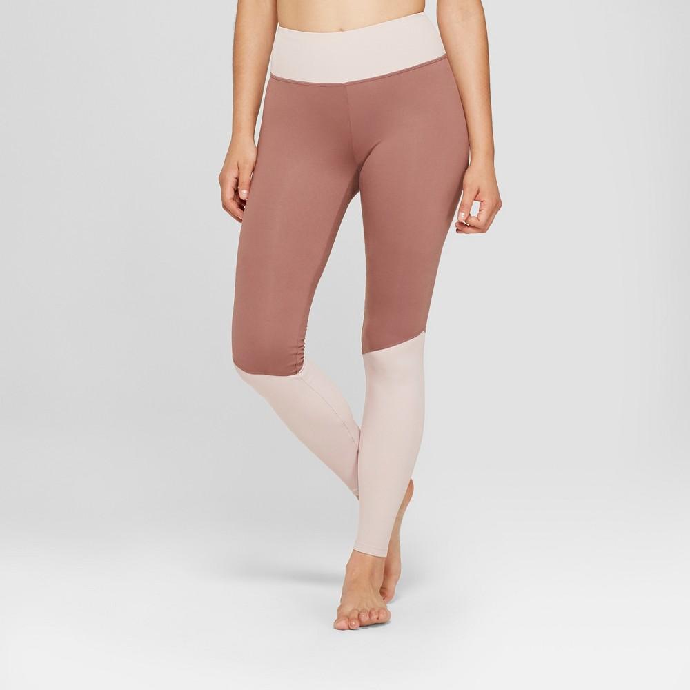 Women's Comfort Yoga Ribbed Mid-Rise Leggings 31 - JoyLab Faded Rose Pink XS
