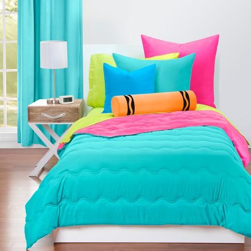 Crayola Turquoise Comforter Sets Full, Target Queen Bedspread Sets