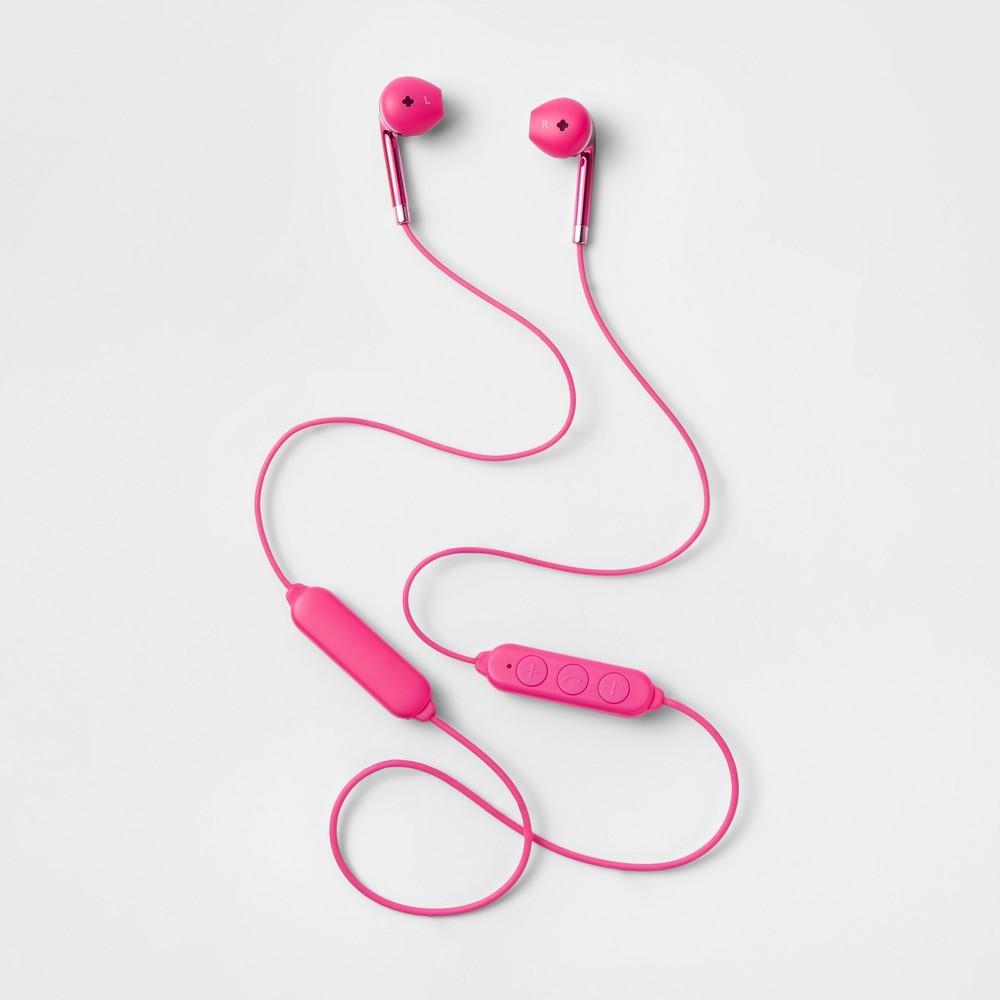 heyday Wireless Round Bluetooth Earbuds - Pizzazz Pink