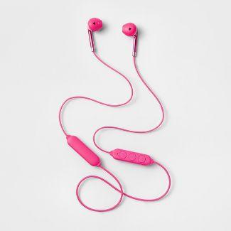 heyday™ Wireless Round Bluetooth Earbuds - Pizzazz Pink