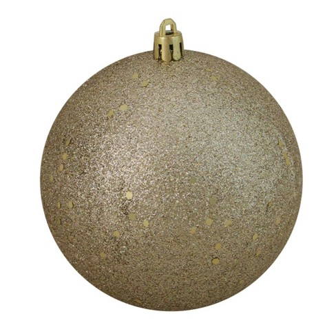 """Northlight 4"""" Shatterproof Holographic Glitter Christmas Ball Ornament - Gold - image 1 of 3"""
