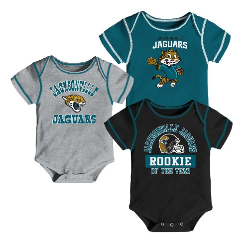 NFL Jacksonville Jaguars Boys' Newest Fan 3pk Bodysuit Set - image 1 of 4