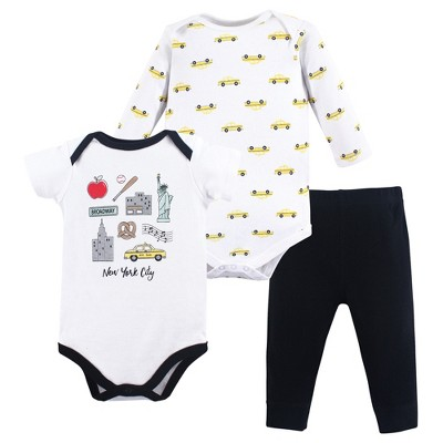 Hudson Baby Infant Boy Cotton Bodysuit and Pant Set, Nyc