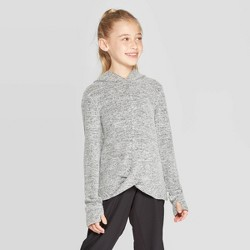 Girls' Twist Front Cozy Long Sleeve Hoodie - C9 Champion®
