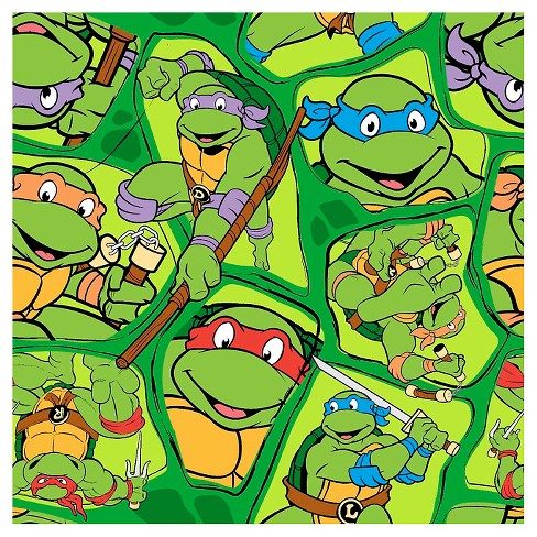TMNT Heroes In Half Shell Toss Fabric - image 1 of 1