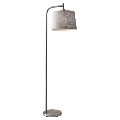 Adesso Blake Floor Lamp - Silver (Lamp Only)