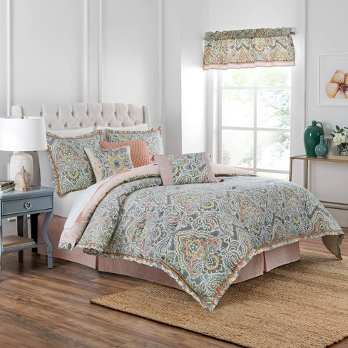 Waverly 4pc Artis Comforter Set, Earth Tone Bedding Collections
