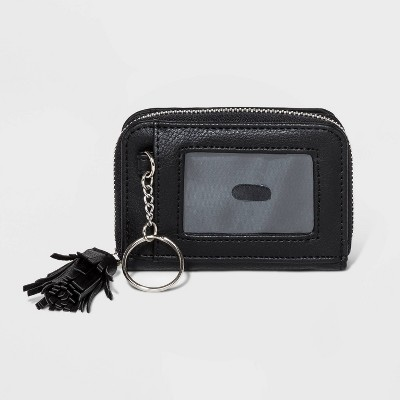 Small Zip Around Wallet With Tassel - Wild Fable™ Black