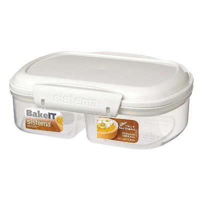 Ordinaire Sistema 1210Zs Bake It Food Storage Stackable Container With Split  Compartments : Target