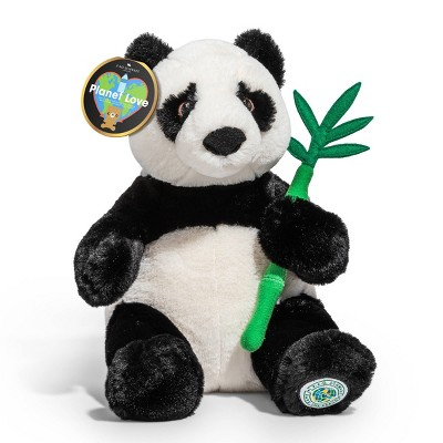 "FAO Schwarz Planet Love Recycled Bottle Panda - 10"" Toy Plush"