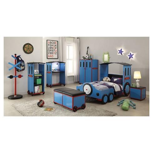 Tobi Kids Train Bed Blue Twin Acme Target
