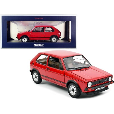 1976 Volkswagen Golf GTI Red with Black Stripes 1/18 Diecast Model Car by Norev