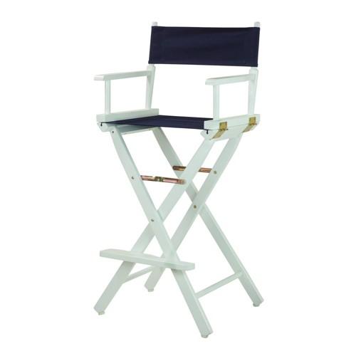 Bar Height Director's Chair - Navy Blue, Blue Blue