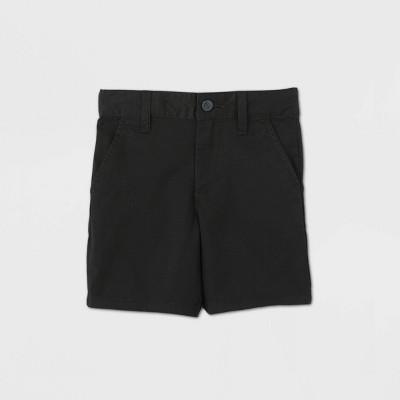 Toddler Boys' Flat Front Stretch Uniform Shorts - Cat & Jack™ Black