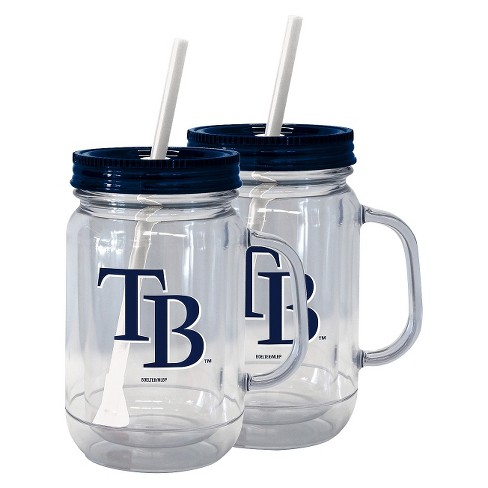 Boelter Brands MLB Tampa Bay Rays Set of 2 Handled Straw Tumbler - 20oz - image 1 of 1