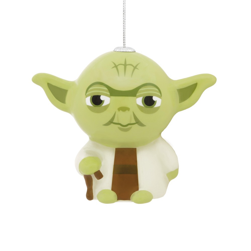 Image of Hallmark Star Wars Yoda Decoupage Christmas Ornament, Multi-Colored