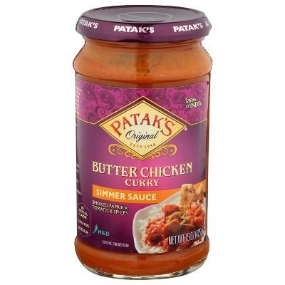 Patak's Butter Chicken Simmer Sauce 15oz
