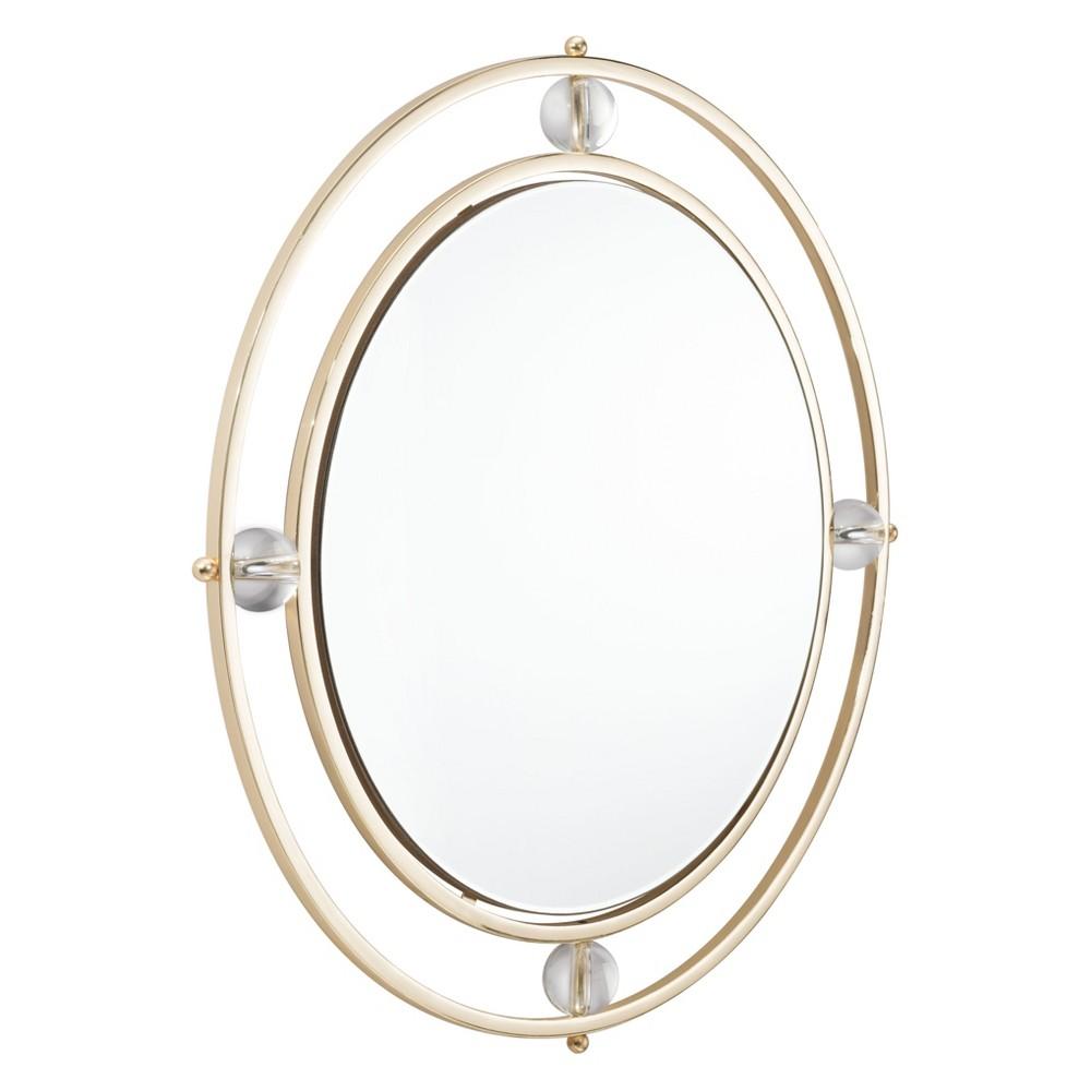 ZM Home 31 Modern Floating Round Mirror Gold