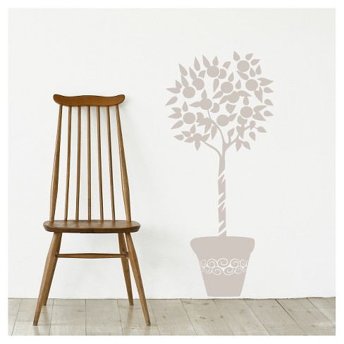 Orange Tree Wall Decal - Light Gray - image 1 of 1