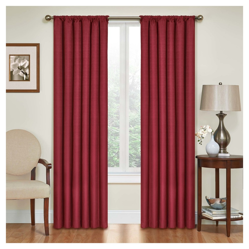 Kendall Thermaback Blackout Curtain Panel Red (42