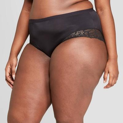 Women's Plus Size Micro Briefs with Lace Trim - Auden™