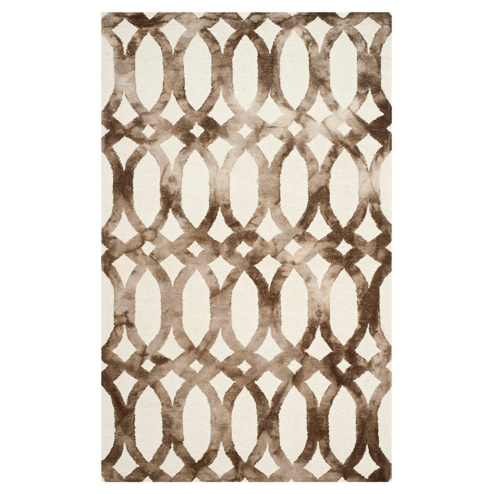 Adney Area Rug - Ivory/Chocolate (Ivory/Brown) (5'x8') - Safavieh
