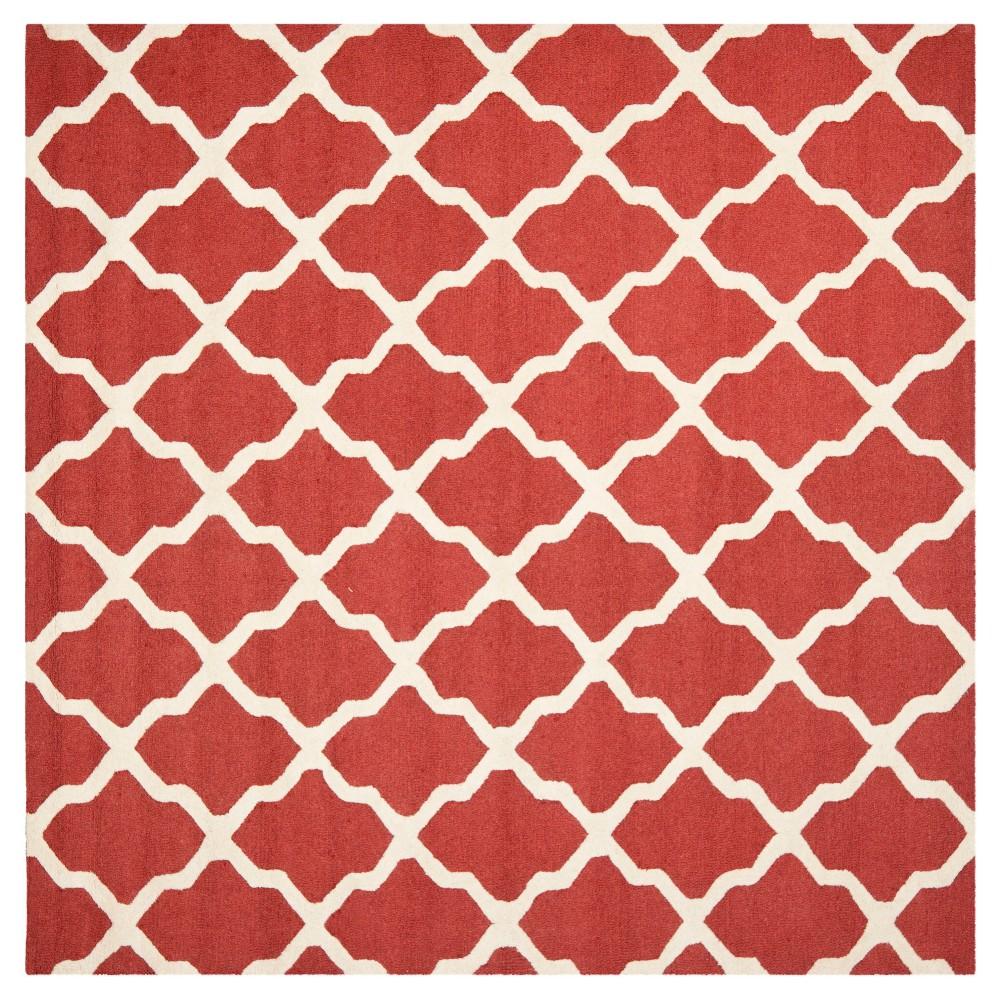 Maison Textured Rug - Rust / Ivory (8'X8') - Safavieh, Red/Ivory