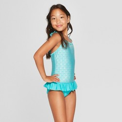 Girls' Shimmermaid One Piece Swimsuit - Cat & Jack™ Turquoise