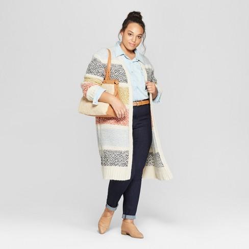 0c2d5d089d1 Women s Plus Size Striped Duster Cardigan - Universal Thread™   Target