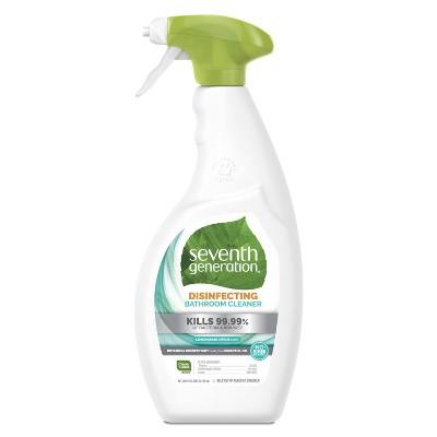 Seventh Generation Lemongrass Citrus Disinfecting Bathroom Cleaner - 26oz