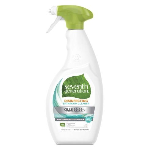 Seventh Generation Lemongrass Citrus Disinfecting Bathroom Cleaner - 26oz - image 1 of 4